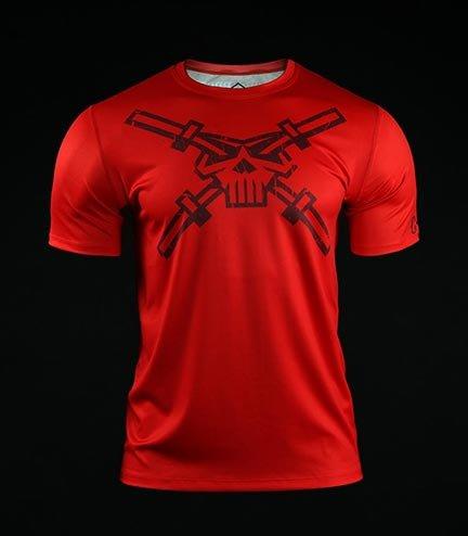 Koszulka treningowa (T-shirt) Crossborn Skull Dirt Czerwona