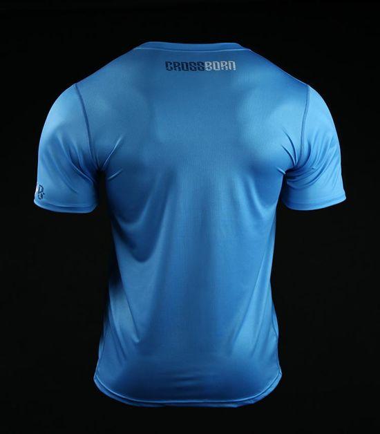 Koszulka treningowa (T-shirt) Skull Dirt Niebieska
